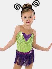 Girls A Bugs Adventure Foil Dot Performance Dress