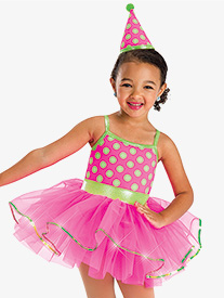 Girls Birthday Girl Dotted Camisole Performance Tutu Dress