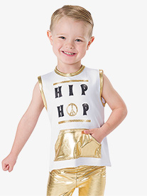 Boys Hip Hop King Metallic Performance Top