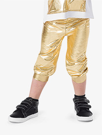 Boys Performance Metallic Capri Pants