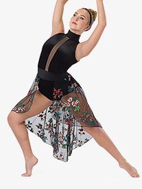 Womens You Say Floral Mesh Performance Lyrical Dress
