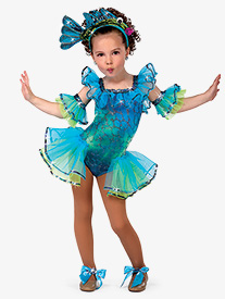 Child Under the Sea Bustled Tank Character Costume Leotard