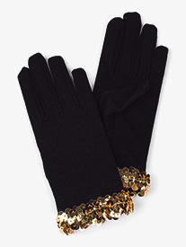 Girls Black Performance Gloves