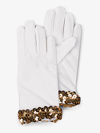 Womens White Performance Gloves