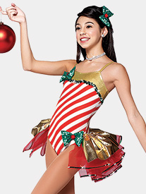 Womens I Wanna Be A Rockette Bustled Performance Leotard