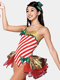 Girls I Wanna Be A Rockette Bustled Performance Leotard