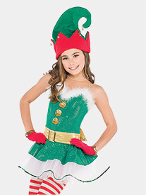 Womens Jingle Bells Tank Performance Tutu Dress