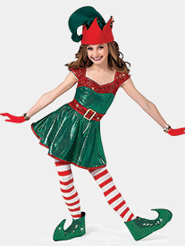 Girls Santas Helper Performance Dress