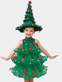 Girls Rocking Around Xmas Tree Performance Tutu Dress