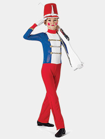 Girls Toy Soldier Metallic Performance Unitard