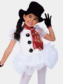 Girls Frosty Performance Short Sleeve Tutu Dress