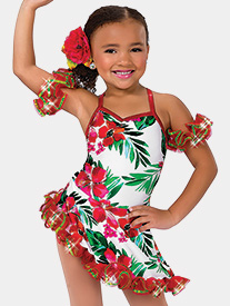 Girls Mele Kalikimaka Floral Performance Dress