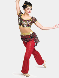 Womens Arabian Spice Faux Two-Piece Performance Unitard