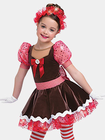 Girls Hot Chocolate Short Sleeve Performance Tutu Dress