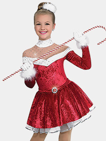 Womens Santa Baby Velvet Performance Dress