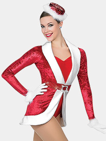 Womens Holiday Spectacular Two-Tone Performance Leotard