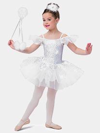 Girls Winter Song Sequin Performance Tutu Dress