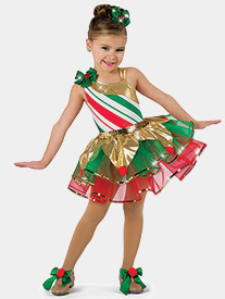 Girls Tinseltown Asymmetrical Performance Tutu Dress