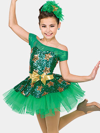 Womens Holiday Hop Two-Tone Performance Tutu Dress