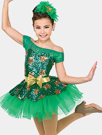 Girls Holiday Hop Two-Tone Performance Tutu Dress