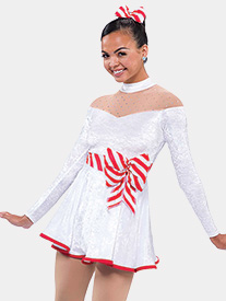 Girls Boogie Woogie Velvet Performance Dress