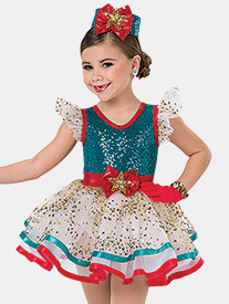 Girls Ribbon & Bows Tank Performance Tutu Dress