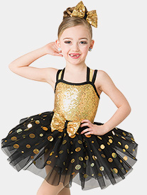 Girls Jing Jing Jingle Two-Tone Performance Tutu Dress