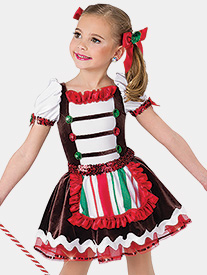 Girls Gingerbread Jam Performance Tutu Dress
