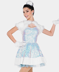 Womens Winter Wonderland Performance Tutu Dress