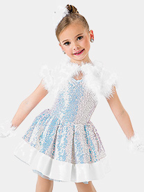 Girls Winter Wonderland Performance Tutu Dress