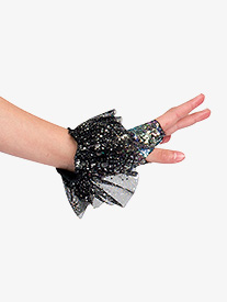 Womens Good Girl Performance Sequin Gloves