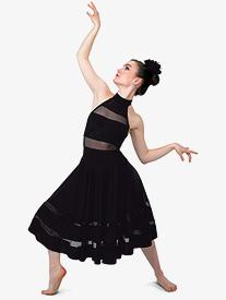 Womens Dont Panic Dance Performance Halter Dress