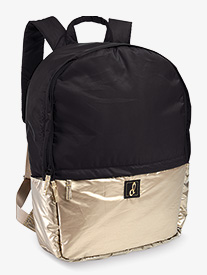 Black and Gold Metallic Puffer Dance Backpack