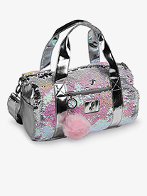 Pearlescent Reversible Sequin Dance Duffle Bag
