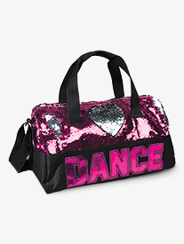 Flip Sequin Heart Dance Duffle Bag