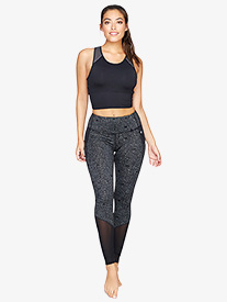 Womens Satellite Print Mesh Workout Leggings