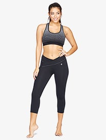 Womens V-Front Workout Capri Leggings