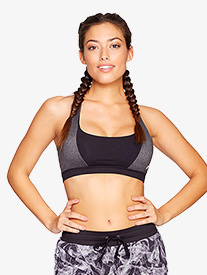 Womens Dual Toned Sports Bra Top