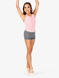 Girls Compression Banded Short