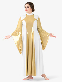 Womens Metallic Worship Dress