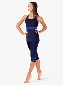Womens Team Compression Cropped Leggings