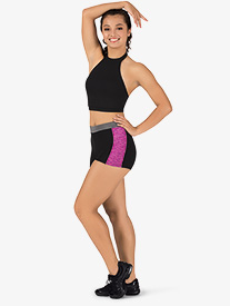 Womens Team Plus Size Contrast Compression Shorts