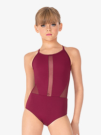 Girls Crisscross Back Camisole Leotard