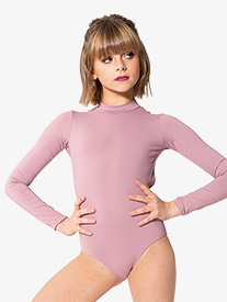 Girls Strappy Back Long Sleeve Leotard