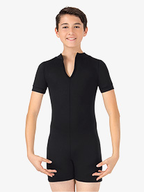 Boys Colorblock Dance Short Sleeve Shorty Unitard