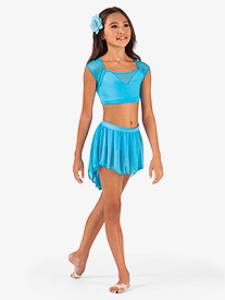 Child High-Low Mesh Dance Skirt