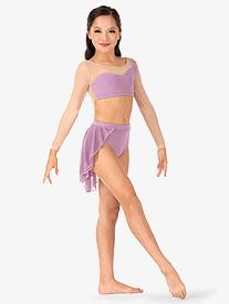 Child Back Drape Mesh Half Skirt