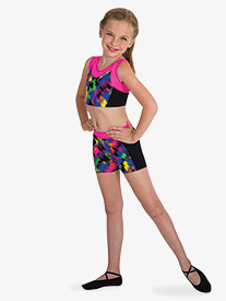 Girls Boy-Cut Gymnastics Shorts