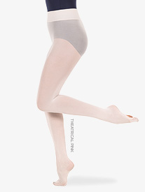 Womens Nylon Smooth Waist Convertible Dance Tights