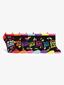 Womens Days of the Week No Show Dance Socks